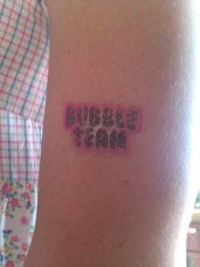 Temporary tattoo free with bubble gum