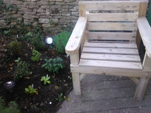 garden plants and furniture locally sourced