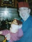 Moroccan fez hats in restaurant
