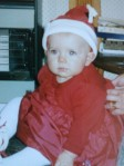 Baby Laura in Santa hat