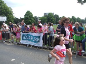 Running the Tesco Race for Life in Bristol 2011
