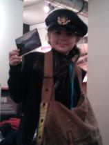 Laura dresses up at Bath Postal Museum