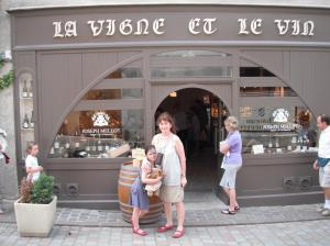 Debbie and Laura about to buy Sancerre at source