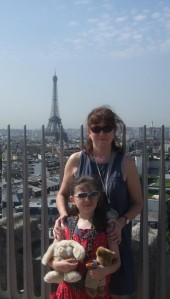 Debbie and Laura on top of the Arc de Triomphe in Paris, Summer 2011