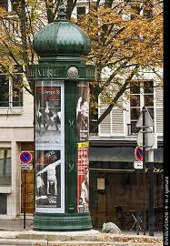 Advertising column in Parisian street