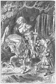 Tenniel's illustration of the White Knight from Through the Looking Glass