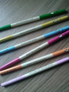 photo of a set of Penguin pencils