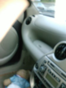 glove compartment in dashboard