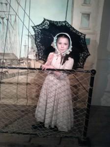 Laura in Victorian dress