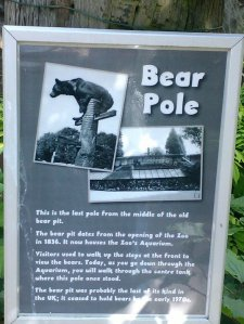Poster about old bear pole at Bristol Zoo