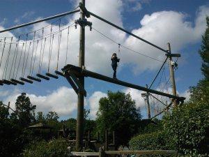 My daughter Laura tackling Zooropia elevated walk at Bristol Zoo