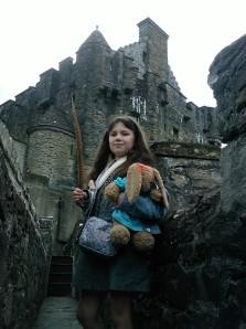 Laura at Castle Eilean Donan near Kyle of Localsh, Scotland