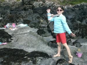 On the beach at Glenbrittle, Skye