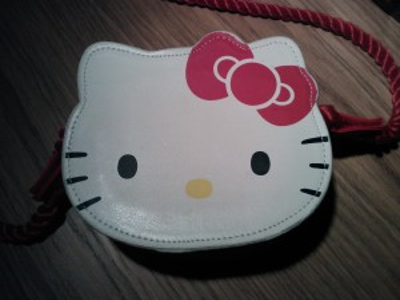 Laura's favourite Hello Kitty handbag