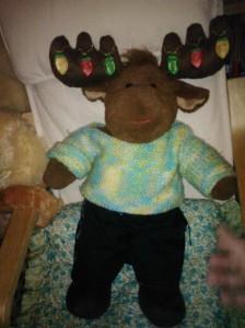 Comet the Reindeer with light-up antlers