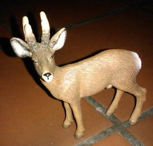 Plastic toy reindeer from Bristol Zoo