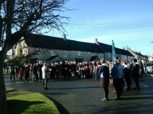 Remembrance Day Service, War Memorial, Hawkesbury Upton, 2012