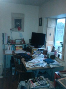 My untidy desk