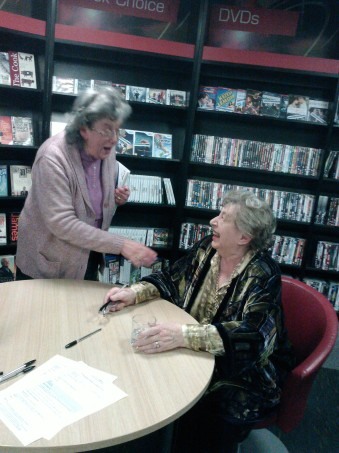 Author M C Beaton at a library event