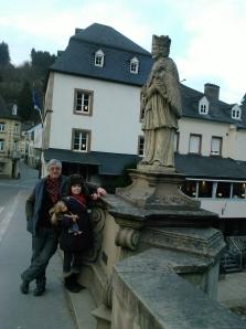 On the bridge across the river in Vianden