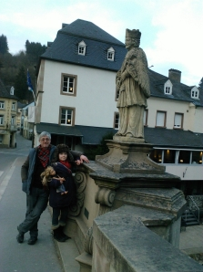 On the bridge across the river in Vianden