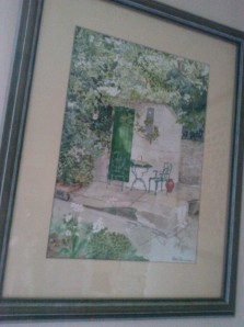 Grandpa's painting of Laura's garden