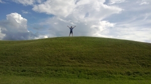 Laura on top of a hill