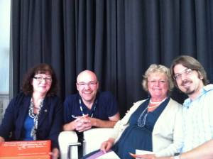 BBC Radio Gloucestershire panel guests with DJ