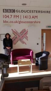 Debbie Young at BBC Radio Glos studio