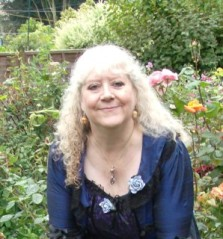 Helen Hollick in the garden