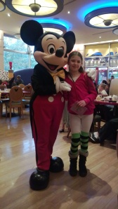 Laura and Mickey Mouse