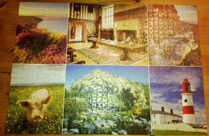 Completed 1,000 piece jigsaw puzzle