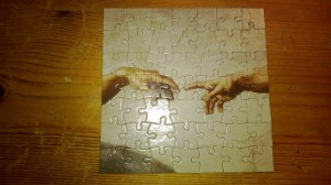 Completed small puzzle