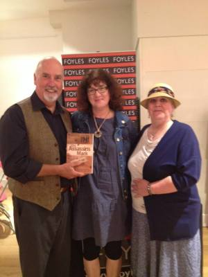Debbie Young photographed with David Ebsworth and Helen Hollick