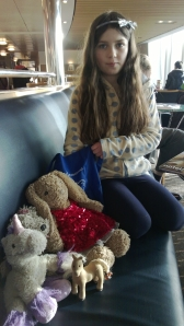 My daughter on board the Channel Ferry, late afternoon