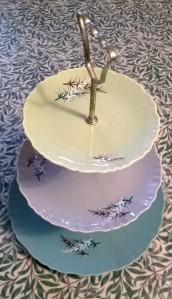 Grandma's tiered cake plate