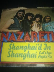 Cover of 1974 single, Shanghai'd in Shanghai by Nazareth