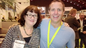 Debbie Young with Hugh Howey
