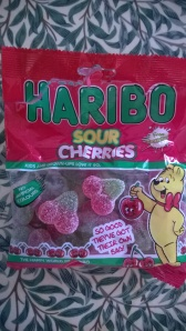 Pack of sour cherry sweets