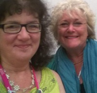 Selfie of Debbie Young and Katie Fforde