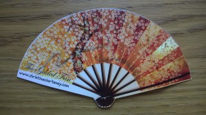Bookmark shaped like a fan