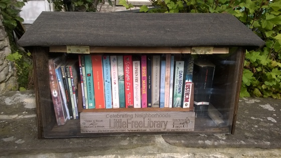 Close up of my Little Free Library