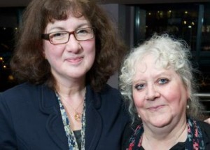 Debbie Young with Helen Holllick