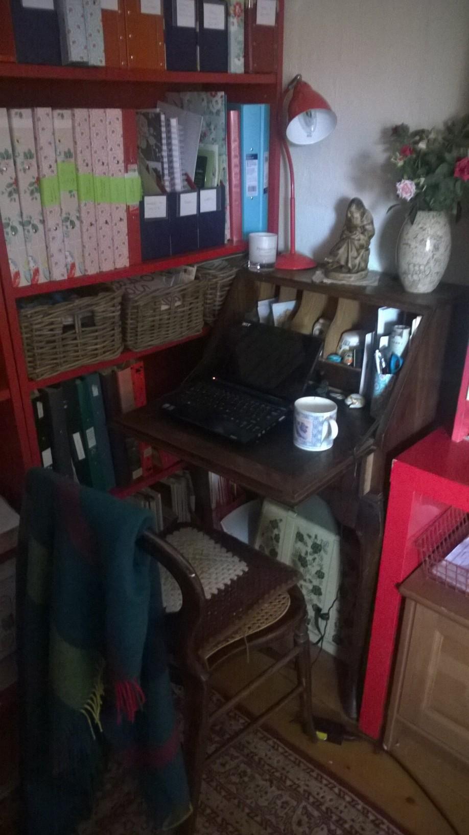 Old upright bureau