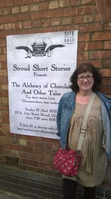 Debbie Young and poster for Stroud Short Stories