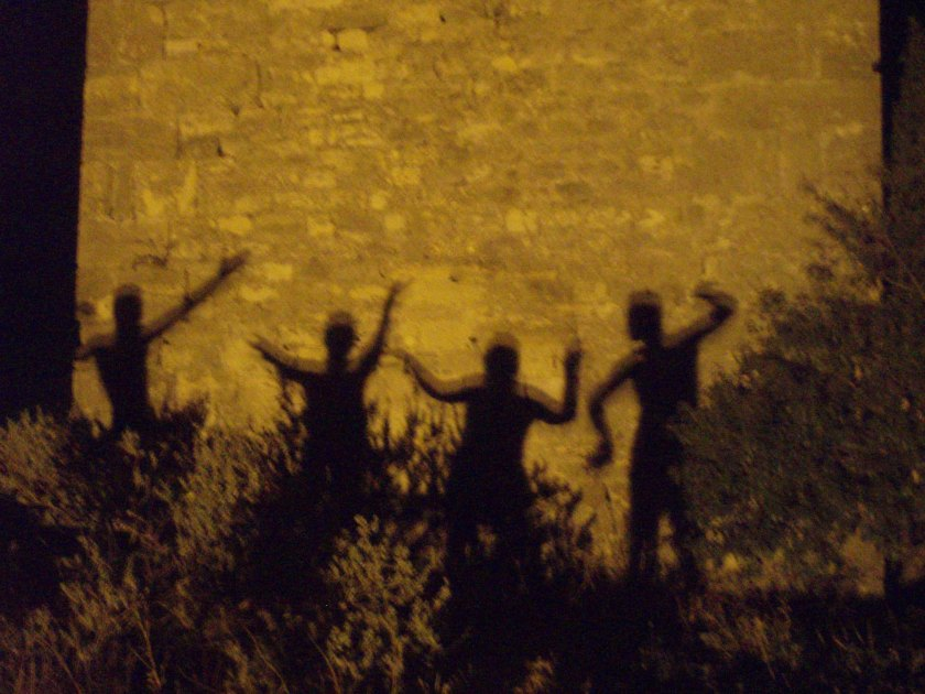 photo of shadows dancing