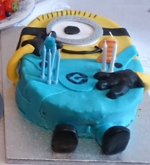 Minion cake made by my brother