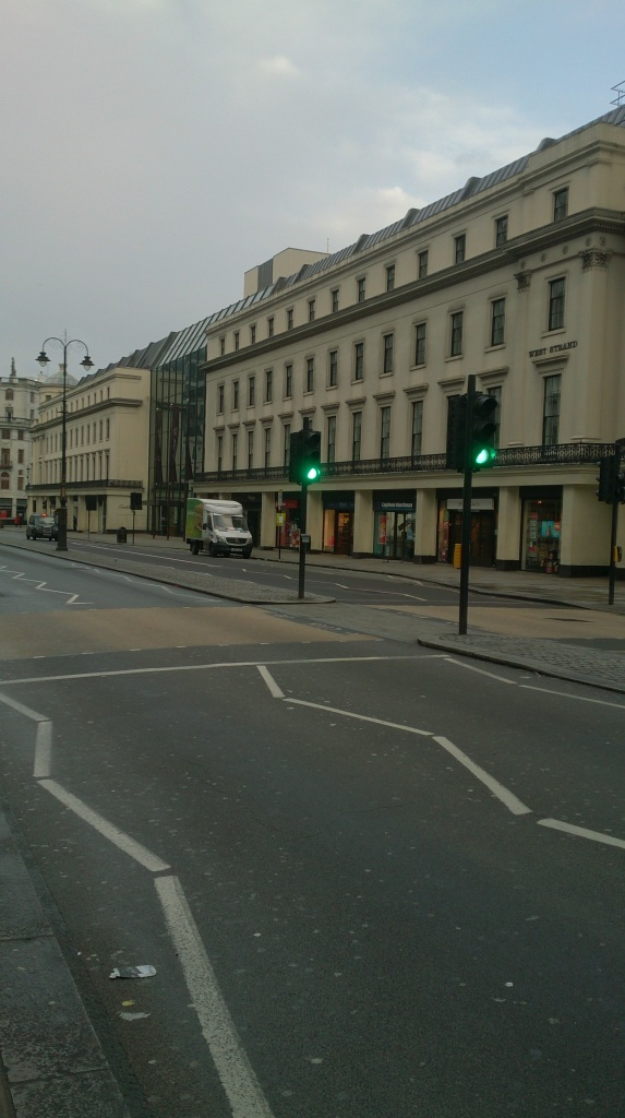 Photo of the Strand with no traffic or people
