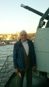 My dad on board the HMS Belfast