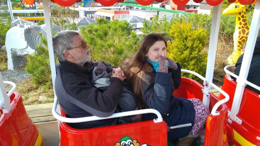 Gordon and Laura on the Legoland safari train